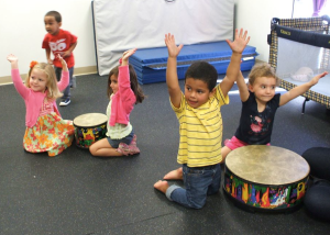 Drumming at CAST Preschool and Childcare Center