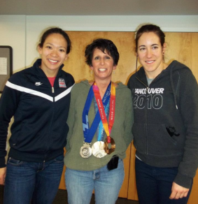 Miss Robin and a visit from Olympians